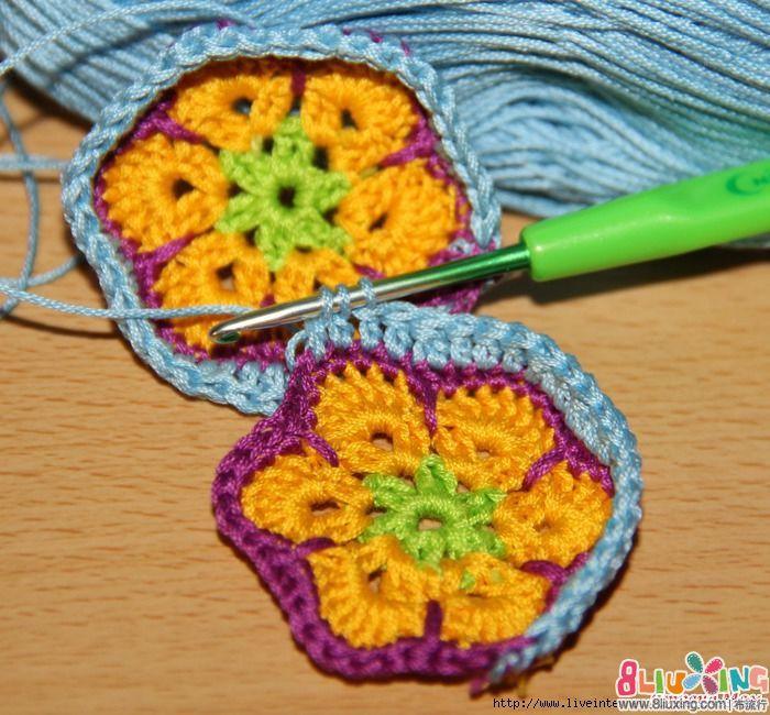钩帽子视频_非洲花元素的钩针河马图解(第一种) - 编织图样 布流行手工网
