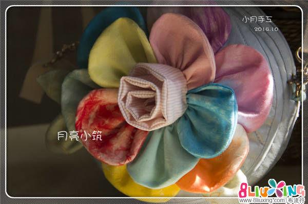 小月爱手工~~花仙子的七色花 小朋友定制的立体花朵包