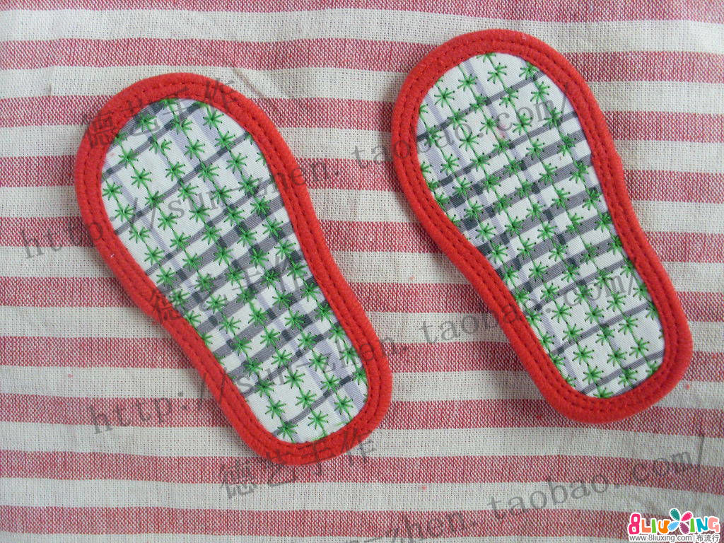 虎头鞋新式简易绱鞋法步骤3纳鞋底及包边-2