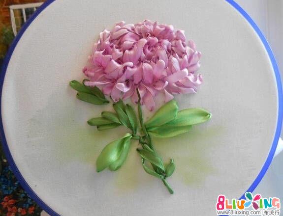 丝带绣菊花教程