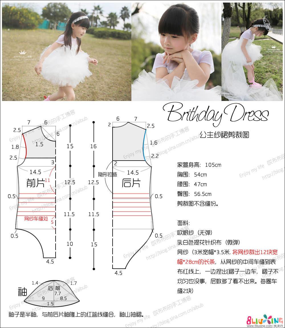 【哎布布】Birthday Dress 甜美纱裙 附SHOW & 剪裁图