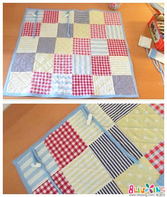 快速製作拼布車用小毯子