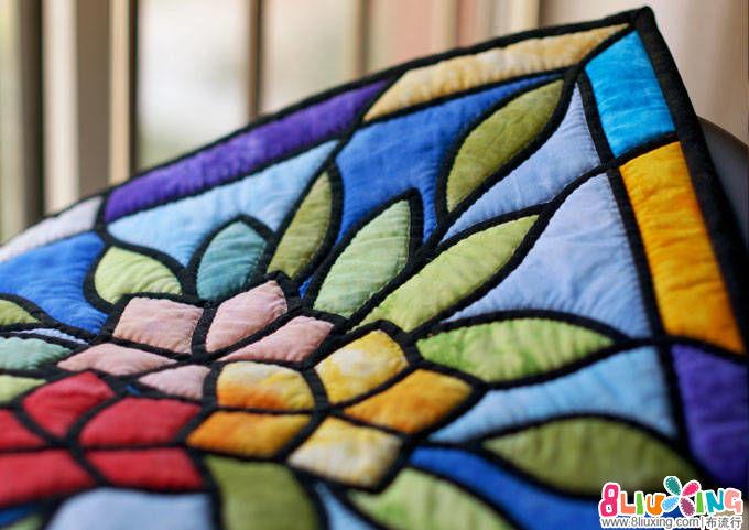 【懒猫花花】彩绘玻璃壁饰——贴布全程班终结课示范