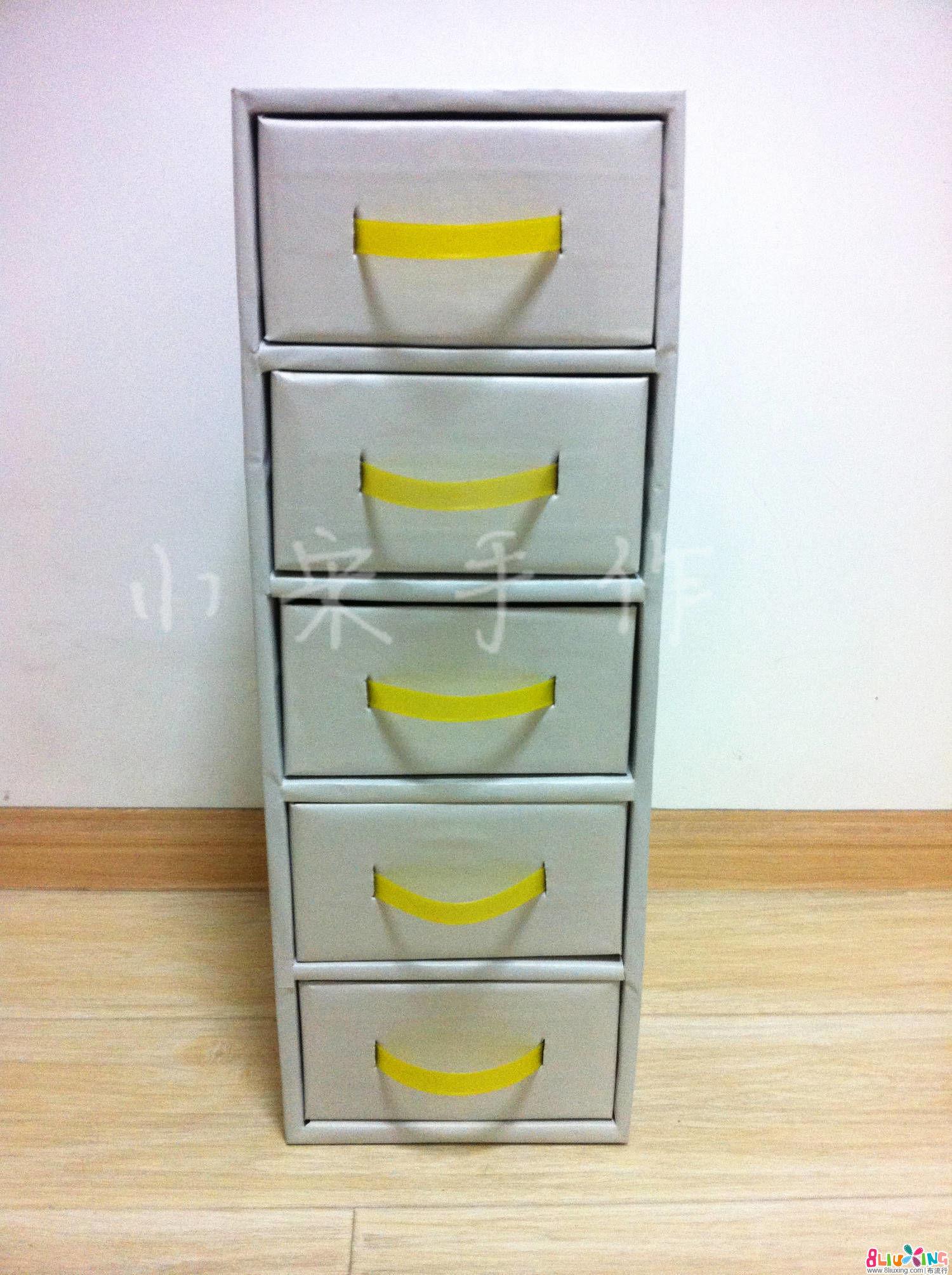 纸箱做衣柜收纳抽屉