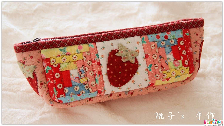 『桃子's 手作』Cute Strawberry 糖果复刻风 笔袋~