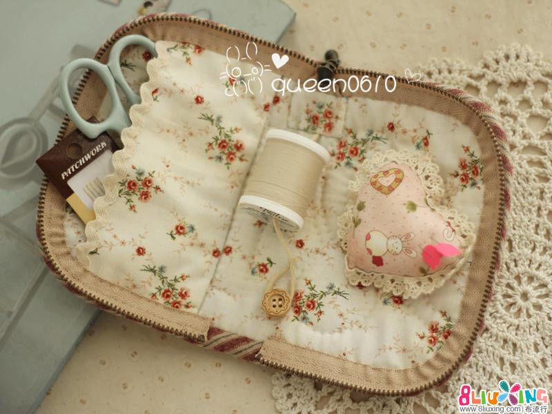 女王拼布---mini 拼布缝纫针线包