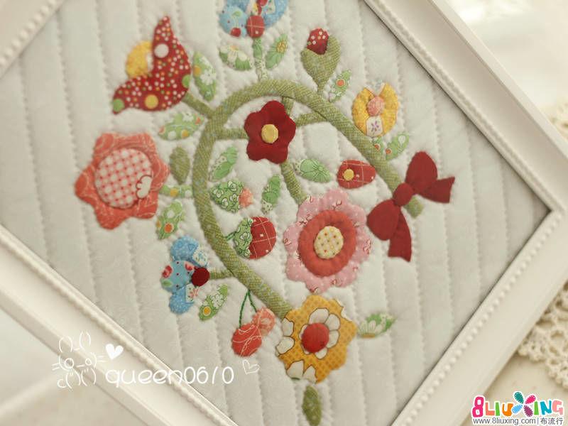 女王拼布----复刻风花花小壁饰相框画