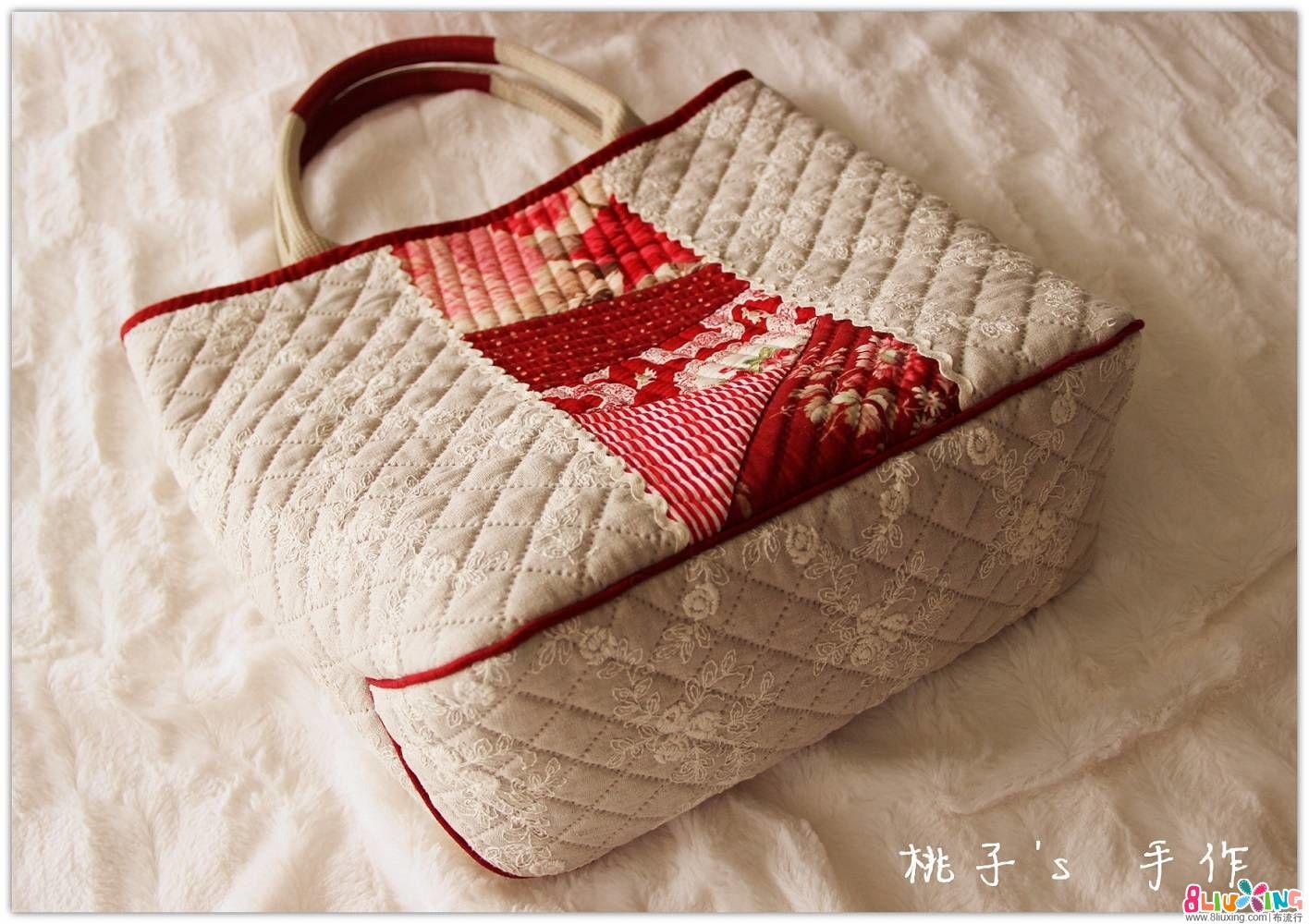 『桃子's手作』向野早苗老师 玫瑰情缘拼布包