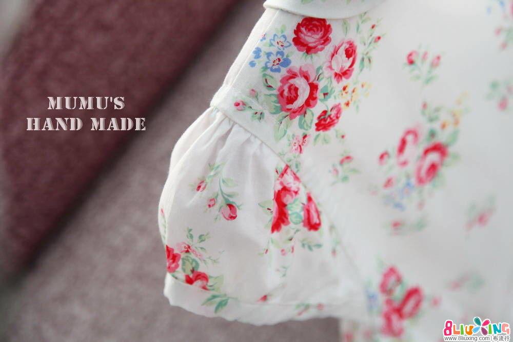 木木手做~白色玫瑰连衣裙