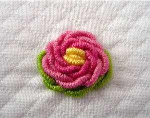 刺绣花朵方法