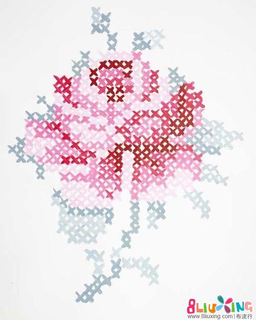 玫瑰花!刺绣图纸