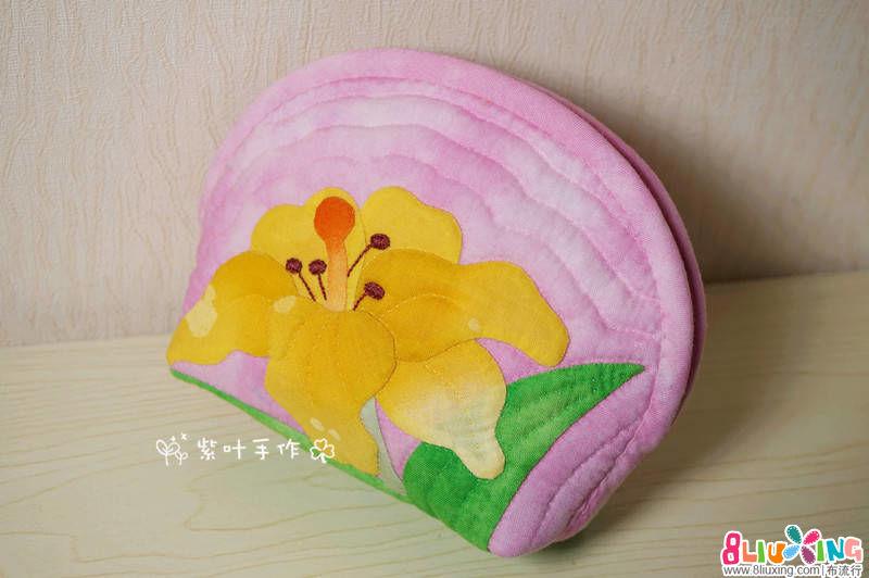紫叶手作:百合贝壳包