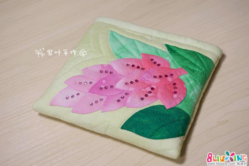 紫叶手作:闪亮姜花随身包