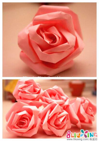 纸玫瑰花的制作方法