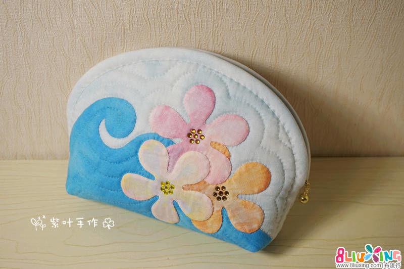 紫叶手作:鸡蛋花海浪贝壳包