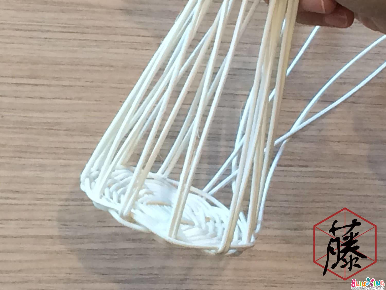 将主枝显露的部位湿润,然后将其对折。将所有主枝对折,使其竖立。