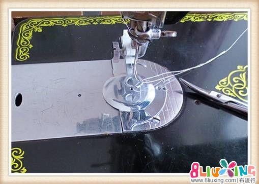 老式缝纫机做机缝立体白玉——小鸟