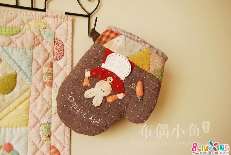 【布偶小鱼】可爱兔子隔热手套