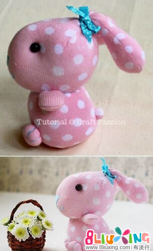 袜子玩偶小粉兔制作教程