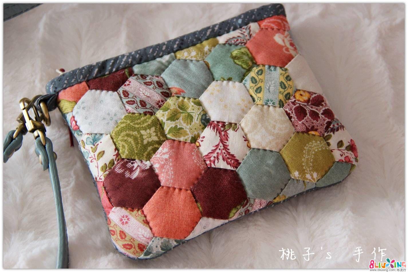 『桃子's 手作』凡尔赛玫瑰 祖母拼布 公文包/手拿包 套包~