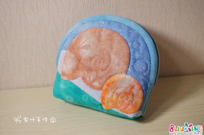 紫叶手作:海螺贝壳包
