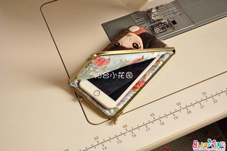 【阳台小花园手做】躲猫猫 直角口金收纳包 手机包