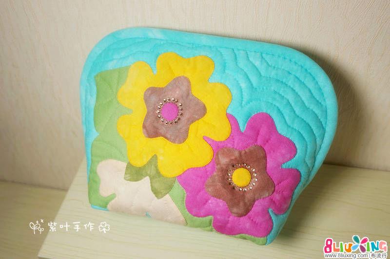 紫叶手作:大号贝壳包——美丽的绽放