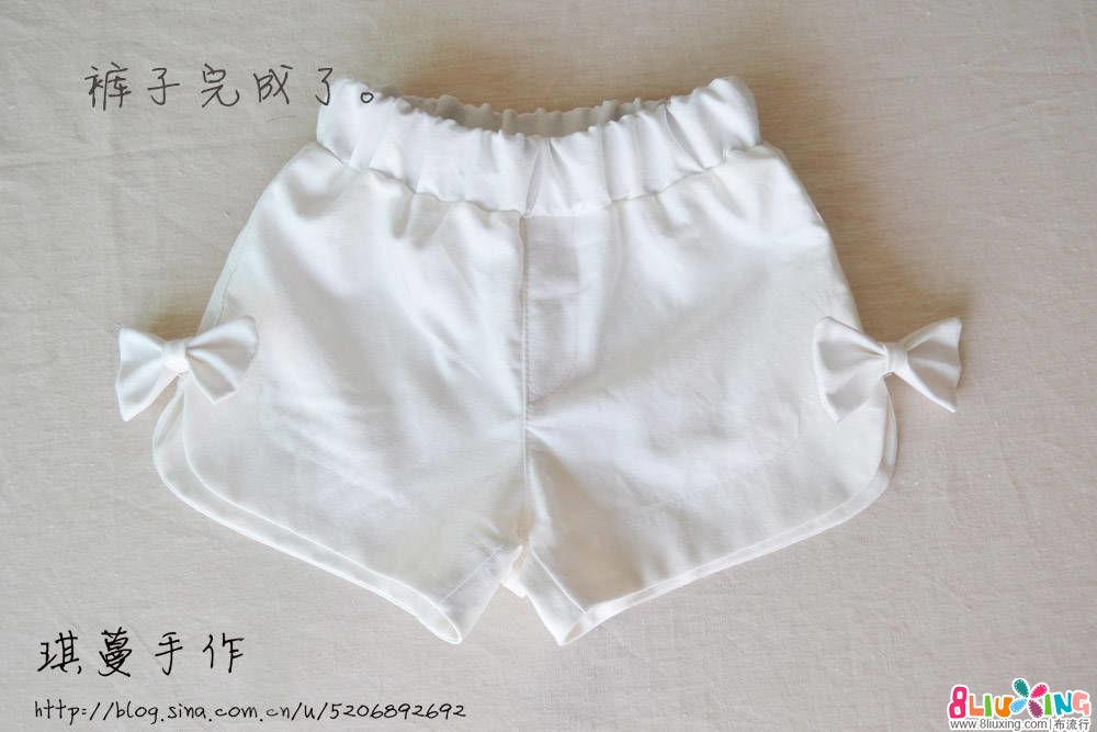 夏的亲子短裤 附大人款制作过程