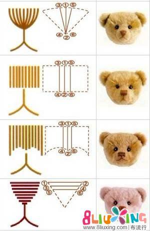 专业泰迪熊绣鼻子的方法