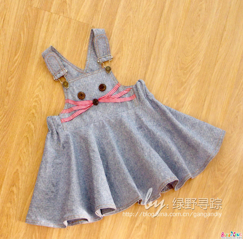 (老绿手工)萌兔AND小老鼠背带裙 附过程 裁剪图
