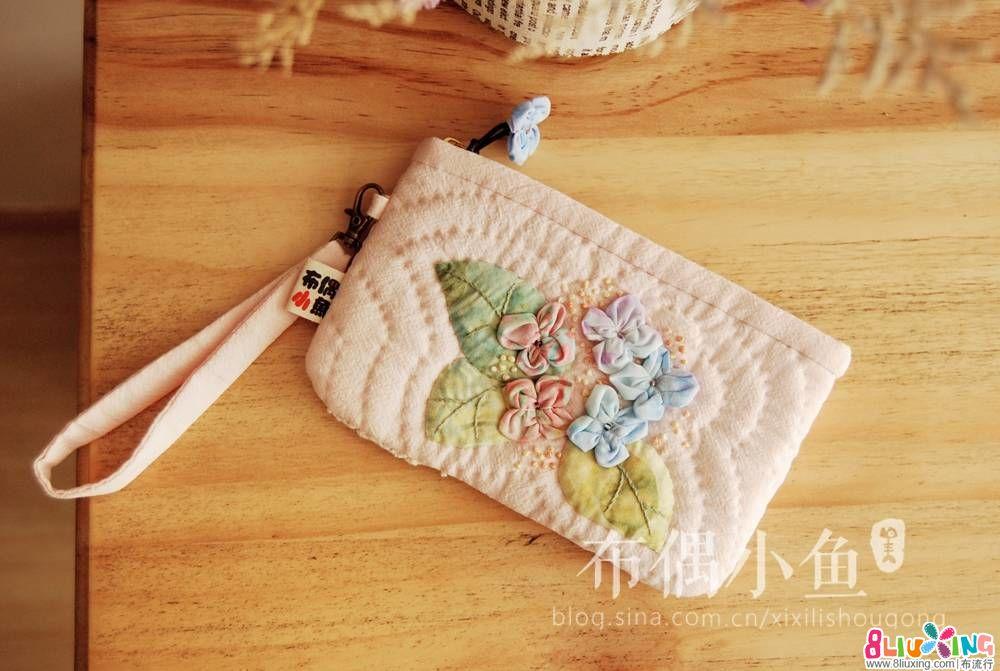 【布偶小鱼】还是绣球,甜美的绣球花小包