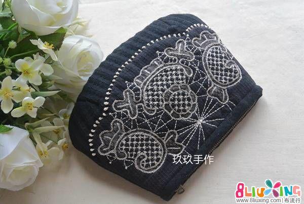 【玖玖手作】木山春代莫拉蕾丝包/手拿包/零钱包