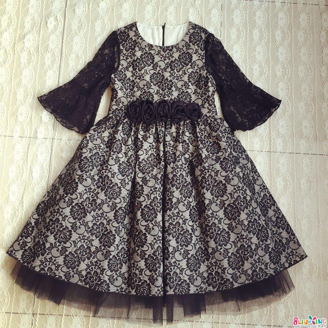 蕾丝礼服裙制作步骤和图纸