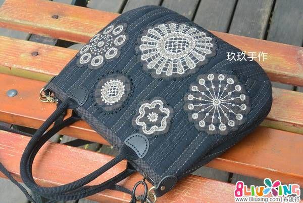 【玖玖手作】莫拉蕾丝包/手提斜背两用包