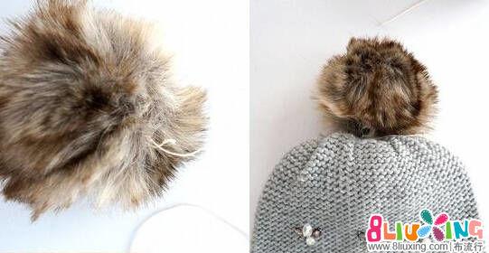 冬季帽子上面的绒球制作教程