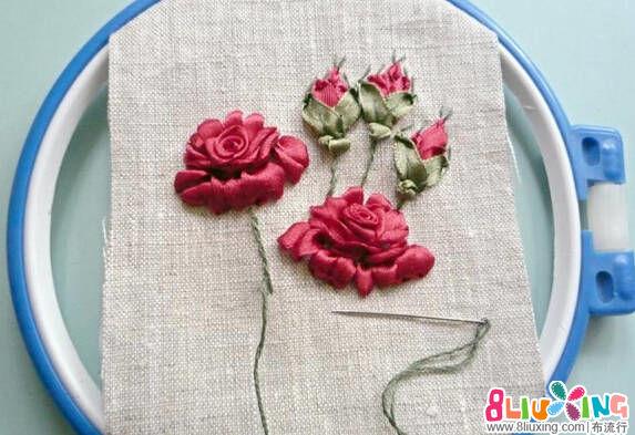 教你绣立体刺绣花朵