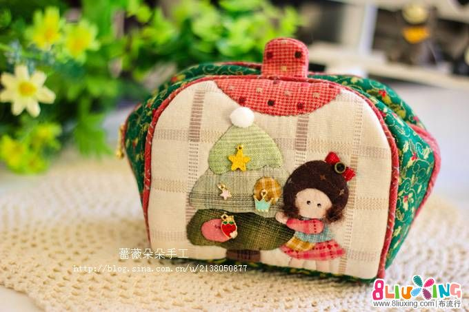 圣诞娃娃馒头包--蔷薇朵朵手工