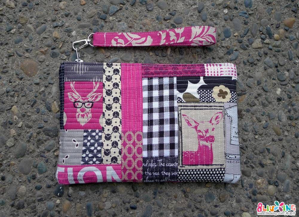 Hot Pink Patchwork Wristlet_8103642636_o.jpg