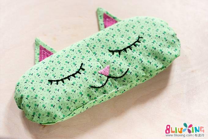 超计可爱的睡眠猫咪香包,也可做成零钱包