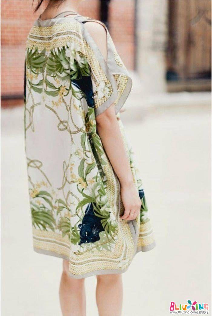 丝巾制作裙子小教程