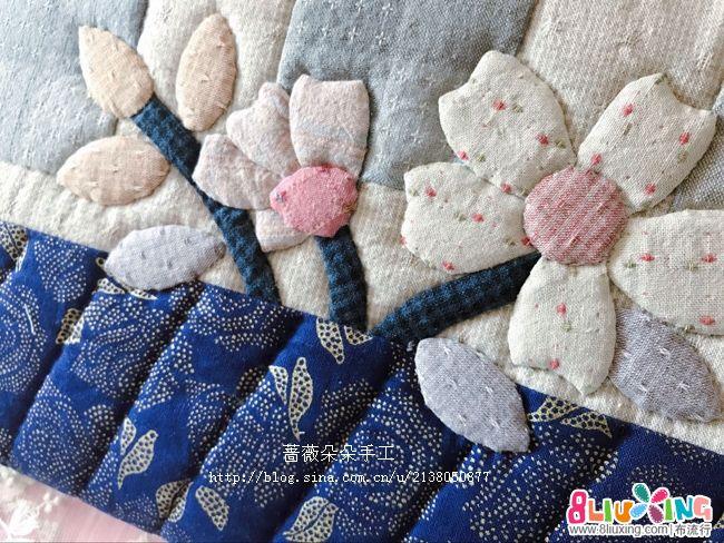 蔷薇朵朵手工--魅蓝花朵信封包