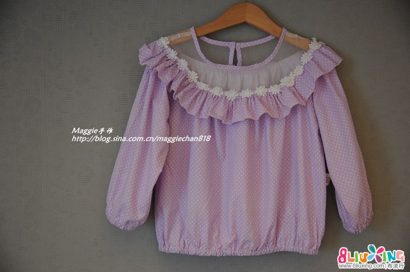 Maggie手作之原创系列——粉紫娃娃衣(附上细节图和真人秀)