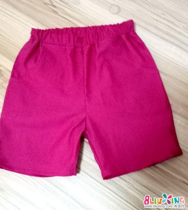 简单易学女童小短裤制作教程(附裁剪图)