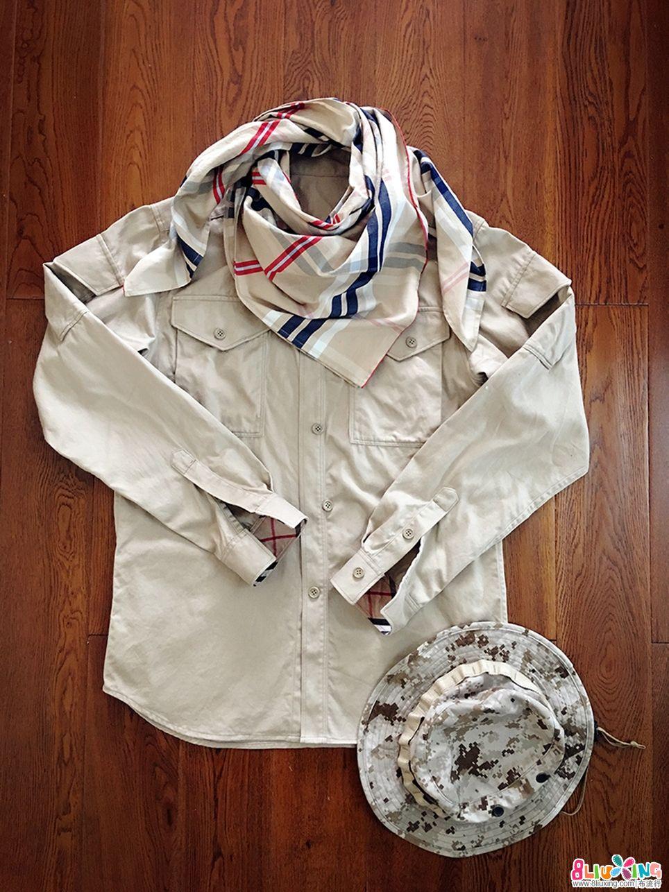 衬衫方巾教程