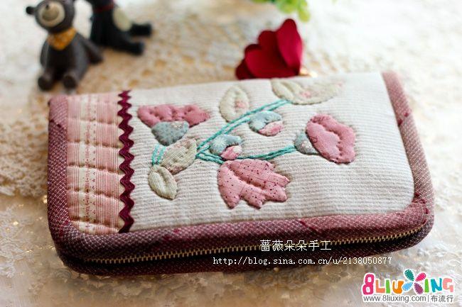 蔷薇朵朵手工--早苗风长款钱包