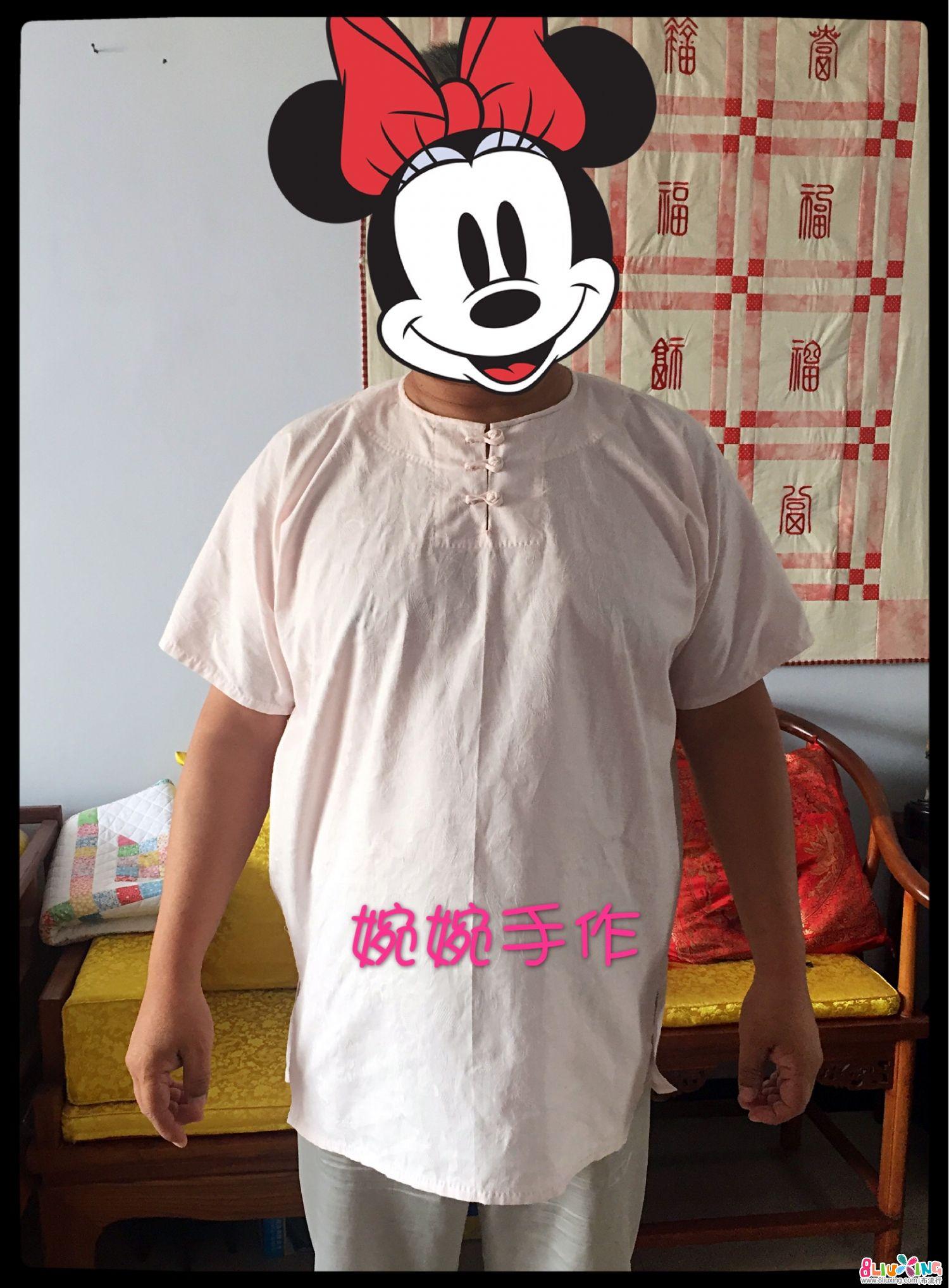 【婉婉手作】男士中式直裁棉麻短袖套头上衣
