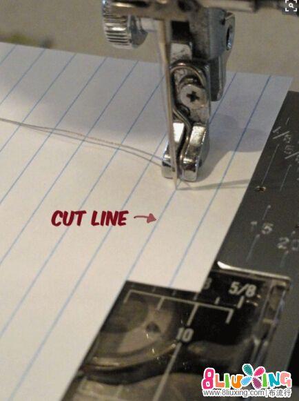 拼布压线直线压线技巧
