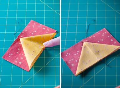 三角拼布的2种方法,超赞1!!