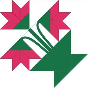 拼布花卉图谱(7):卡罗琳娜百合花 (Carolina Lily)