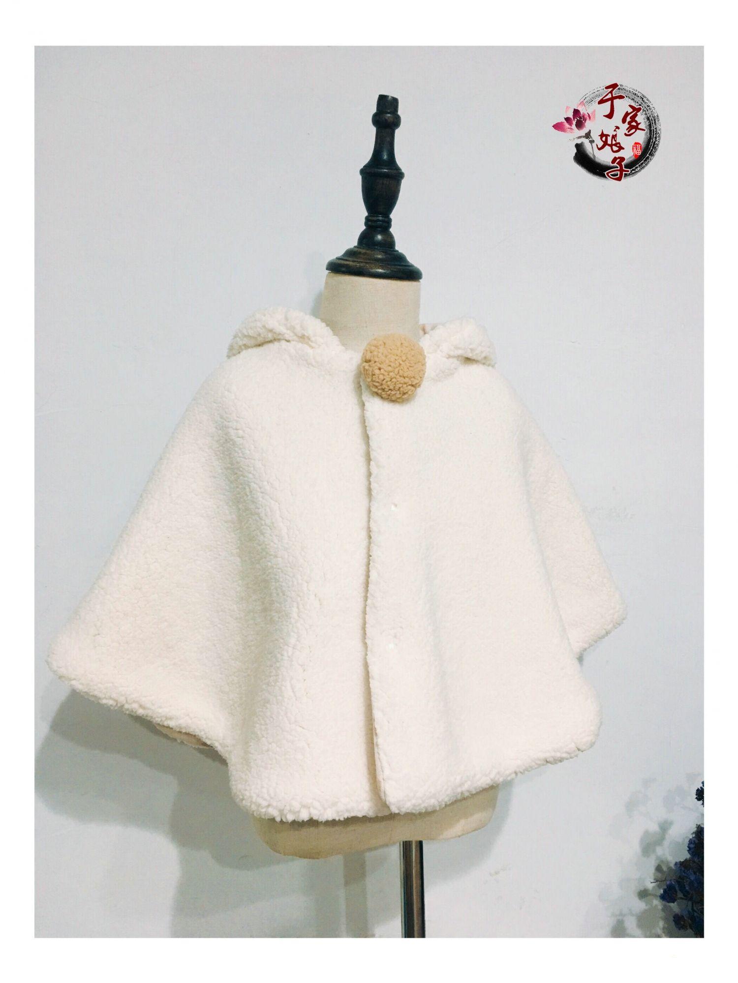 【冻冻手工】 羊羔绒斗篷教程  可爱的小兔纸